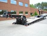 Three Axles Front Loading Lowbed Detachable Gooseneck Trailer