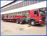 3axles Lowbed Gooseneck Semi Truck Trailer with Ce (30-80ton capacity)