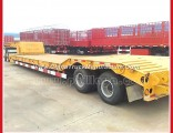 2 Axle Truck Gooseneck 30 Tons Lowbed Semi Trailer