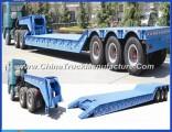 80ton Detachable Gooseneck Lowbed Lowboy Trailer for Equipment Transport