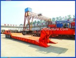 60 Ton Hydraulic Lowbed Trailer with Detachable Gooseneck