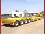 Front-Loading Detachable Gooseneck 3axles Low Boy Semi Trucks and Trailers