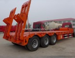 Factory Manufacture 13m Lowbed Gooseneck Semi Vehicle Trailers for Sale