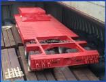 3axles Trailer Lowboy 80ton Extendable Gooseneck Lowbed Truck Trailer