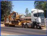 80ton 3axle Excavator Transport Recessed Goose Neck Low Bed Trailer