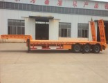 Low Price Made in China 30t-100t Gooseneck Lowbed Semi Truck Trailer with 3 Axle