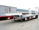 Excavator Bulldozer Transport Low Bed Semi Trailer for Sale