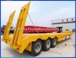 3 Axle 60ton Machine Carrying Semi Trailer for Sale
