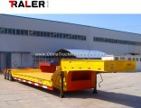 Machinery Transporting 50 Tons Low Bed Semi Trailer