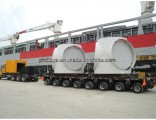 Loading 200t Hydraulic Rotary Axles Lowbed Modular Trailer