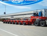 8 Line Self Propelled Modular Semi Trailer, 200 Tons Low Bed Trailer