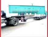 Multi-Axles Extendable Heavy Duty Equipment Semi Low Bed Trailer
