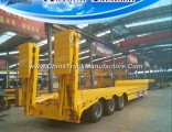 3 Axle 50 Tons Lowbed Semi Trailer with Hydraulic Ramp