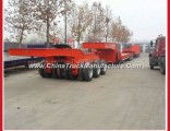 Heavy Duty Lowbed Wheeled Machine Transporter Trailer
