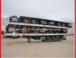 40 Feet Flat Bed Container Truck Cargo Cimc Semi Trailer