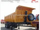2 Axle 20cbm 30ton-50ton Cargo Truck Tipper Semi Trailer