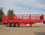Flywheel 3 Axles Stake/Side Board/Fence/ Truck Semi Trailer for Cargo/Fruit/Livestock/Mineral