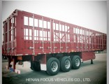 Heavy Duty 3 Axles Stake Fence Cargo Semi Truck Trailer
