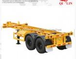 20FT Truck Skeleton Container Semi Trailer