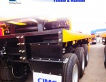 3 Axle 40t Flat Bed 40 Feet Container Semi Trailer