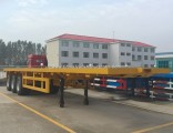 40 Feet Hight Quality 3 Axles Container Flatbed Semi Trailer