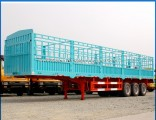 40FT Container Loading 3 Axle Drop Side Trailer 45tons Storehouse Semi Trailer