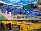 40′′ Skeleton Container Semi Truck Trailer with 2 Axle/3 Axle