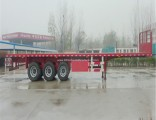 Container Transport 3 Fuhua/BPW Axle ABS Braking Carbon Steel Flatbed Semi Truck Trailer for Sale