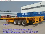 3 Axles 40FT Logging Container Flatbed Truck Trailer