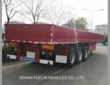 60t Heavy Tri-Axle Duty Trailer Container Dropside Trailer for Truck