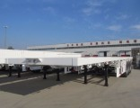 3 Axle 40feet Flat Deck Trailer Truck for Container Usage
