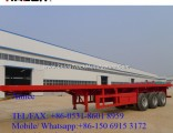 3 Axles Flatbed Truck Trailer 45FT 48 FT Container Semi Trailer