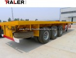 20-40 Feet Container Truck High Bed 3 Axle Flatbed Semi Trailer