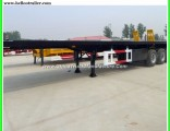 40FT 3 Axles 12.5m Flatbed Container Trailer Flat Bed Truck Trailer
