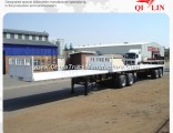 Double Axles Dolly Flatbed 20FT 40FT Container Superlink Trailer