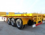Tri-Axles 40FT Flatbed Container Truck Trailer with Fuwa Axles