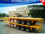40FT Container Flatbed Semi Trailer, High Bed Truck Trailer