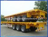 China Tri-Axle Flatbedcontainer Semi Trailer 40FT Container Truck Trailer