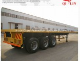 Qilin Factory Price 20FT 40FT Platform Container Chassis Trailer