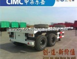 Cimc Tridem Axle Container Chassis Flatbed Semi Trailer
