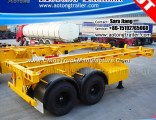 Aotong Skeletal 2 Axles 20FT Container Chassis Semi Truck Trailer