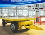 Draw Bar 20ft Container Flatbed Skeleton Trailer for Ghana