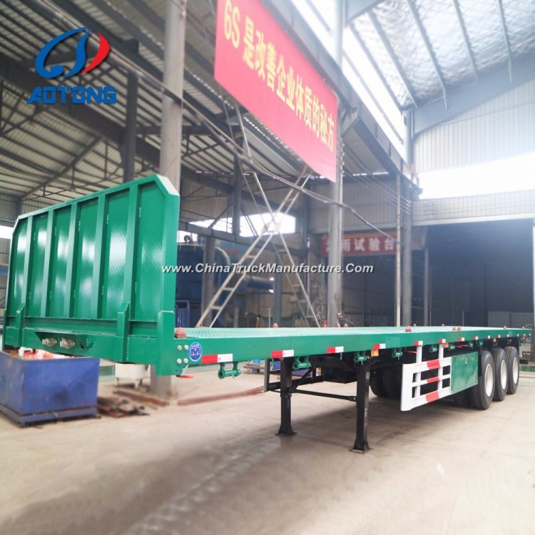 Hot Sale 3axle Flatbed Container Trailers (skeleton chassis type optional)