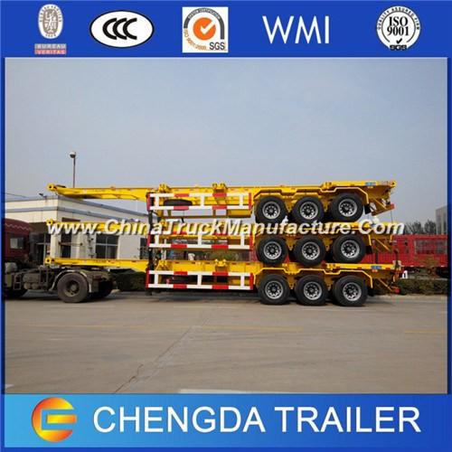 Skeletal Chassis Trailer 20FT 40FT Skeleton Container Trailer for Sale