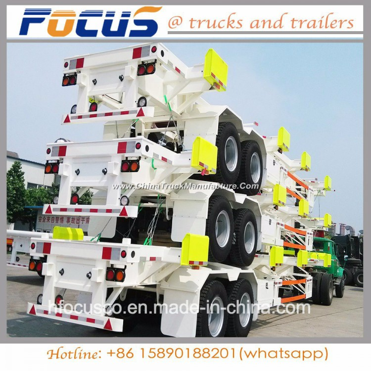 Shipping container Bomb Cart Chassis Trailer for Hot Selling in Philippine Port