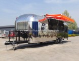 Deluxe Fast Food Catering Trailer Made of Mirror Stainless Steel