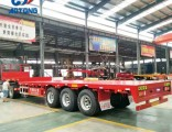 40FT 3axles Flatbed Trailer/Container Trailer for Sale