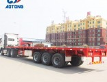 Aotong 2/3axle 40FT Flat Bed Container Semi Trailers