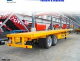 Factory Price 30t-80t 3 Axle Flat Bed Low Bed Truck Semi Trailer for Sale