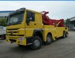 Heavy Duty HOWO 8X4 371HP 360 Degree All Rotation Wrecker Trucks 50tons Price